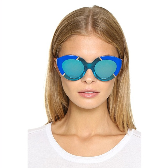 0516407701365 Karen Walker Poolside Flowerpatch Sunglasses Blue